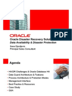Oracle Disaster Recovery Solution