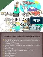 Different Fields of Nursing