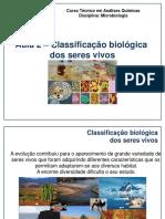 Aula 2 Classificação Biológica Dos Seres Vivos