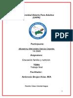 Trabajo Final de Educacion Familia y Nutricion Miosenny