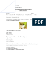 evaluacion diagnostica ciencias naturales 4°