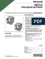 Manual Interruptor de Presión C6097A,B