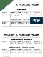 horario directivos