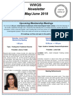 Western Michigan Genealogy Newsletter for May-June 2018