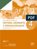 Historia, Geografía y Ciencias Sociales 4º Básico - Guía Didáctica Del Docente Tomo 2