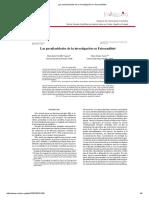 Las Peculiaridades de La Investigación en Psicoanálisis