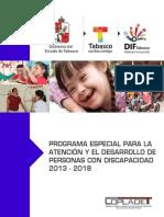 Programa Especial Para La Atencion y El Desarrollo de Personas Con Discapacidad