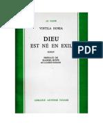 Horia-Vintila-Dieu Est Ne en Exil