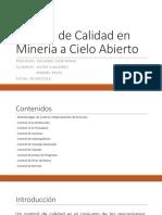 Control de Calidad en Minería a Cielo Abierto