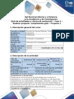 Guía de Actividades y Rúbrica de Evaluación - Fase 4 – Realizar Proyecto Cumplimiento Guía – Proyecto 2