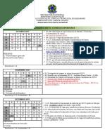 Calendário IFMA