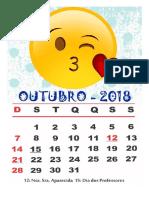Calendário Emojis 2018(1)