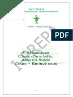 Envoi 5 - Chute D-une Bille - Cours Et Exos