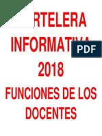 CARTELERA INFORMATIVA 2018