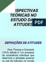 Perspectivas Teóricas No Estudo Das Atitudes