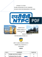 Production and Operations Management Project on Ntpc Simhadri2007
