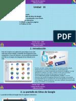 Unidad 16. Sitios de Google