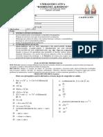 Evaluación Del Cuarto Parcial Matemática 3bgu