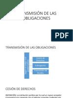 Presentación de Transmisión de Obligaciones