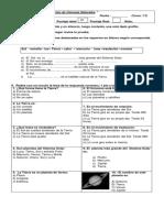 Evaluacion Sistema Solar 3 Basico
