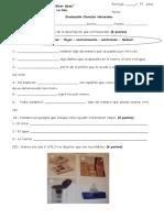 Evaluación Ciencias Naturales