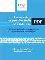 La Escuela y Los Pueblos Indígenas de Costa RIca