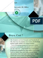 konsep biaya cost