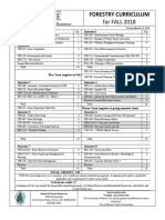 Forestry Curriculum Requirements