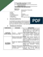 Unidad Didáctica de comunicación para trabajar nivelación primero de secundaria