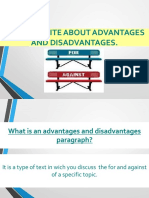 3 - How to Write About Advantages and Disadvantages