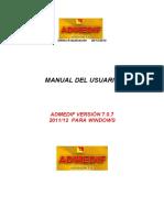 Manual Admedif