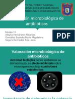 Valoración Microbiológica de Antibióticos