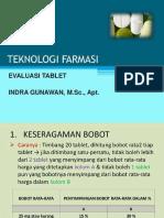 Evaluasi Tablet
