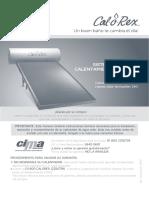 Manual Calorex Solar Web 1015