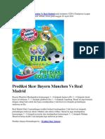 Prediksi Skor Bayern Munchen vs Real Madrid 26 April 2018