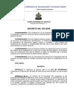 Decreto 253-2005 Ref Ley de Propiedad