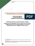 Bases de Licitacion Publica Para El Mejoramiento de La Videna - 2012
