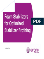 Stabilizer frothing
