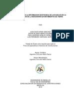 Influencia de La Información Geotécnica de Los Suelos en La Utilización de La Maquinaria en Movimientos de Tierra
