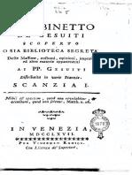 IL GABINETTO DE' GESUITI SCOPERTO O SIA BIBLIOTECA SEGRETA