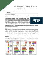 Secuencia de Leds Con CI 555 y DC4017 en Protoboard