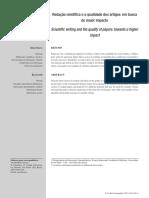 Redação Científica e a Qualidade Dos Artigos