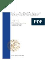 HE Risk Management for Haz Mat Road Transport