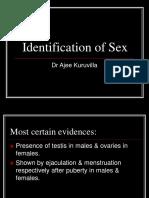 Identification of Sex (1)