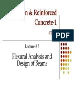 Prof. Zahid Ahmad Siddiqi Lec-3-Flexural Analysis and Design of Beamns