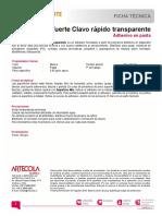 TDS Afix Pegafuerte Clavo Rapido Transparente