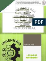 1.4 Papel Del Mantenimiento industrial