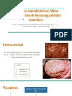 Trastornos hemodinámicos y Edema cerebral y Estados de hipercoagulabilidad secundaria