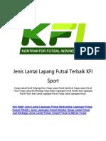Jenis Lantai Lapang Futsal Terbaik KFI Sport
