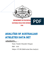 Analysis of athletics  data